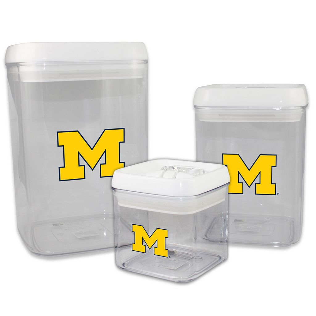 Michigan Wolverines 3-Piece Storage Container Set