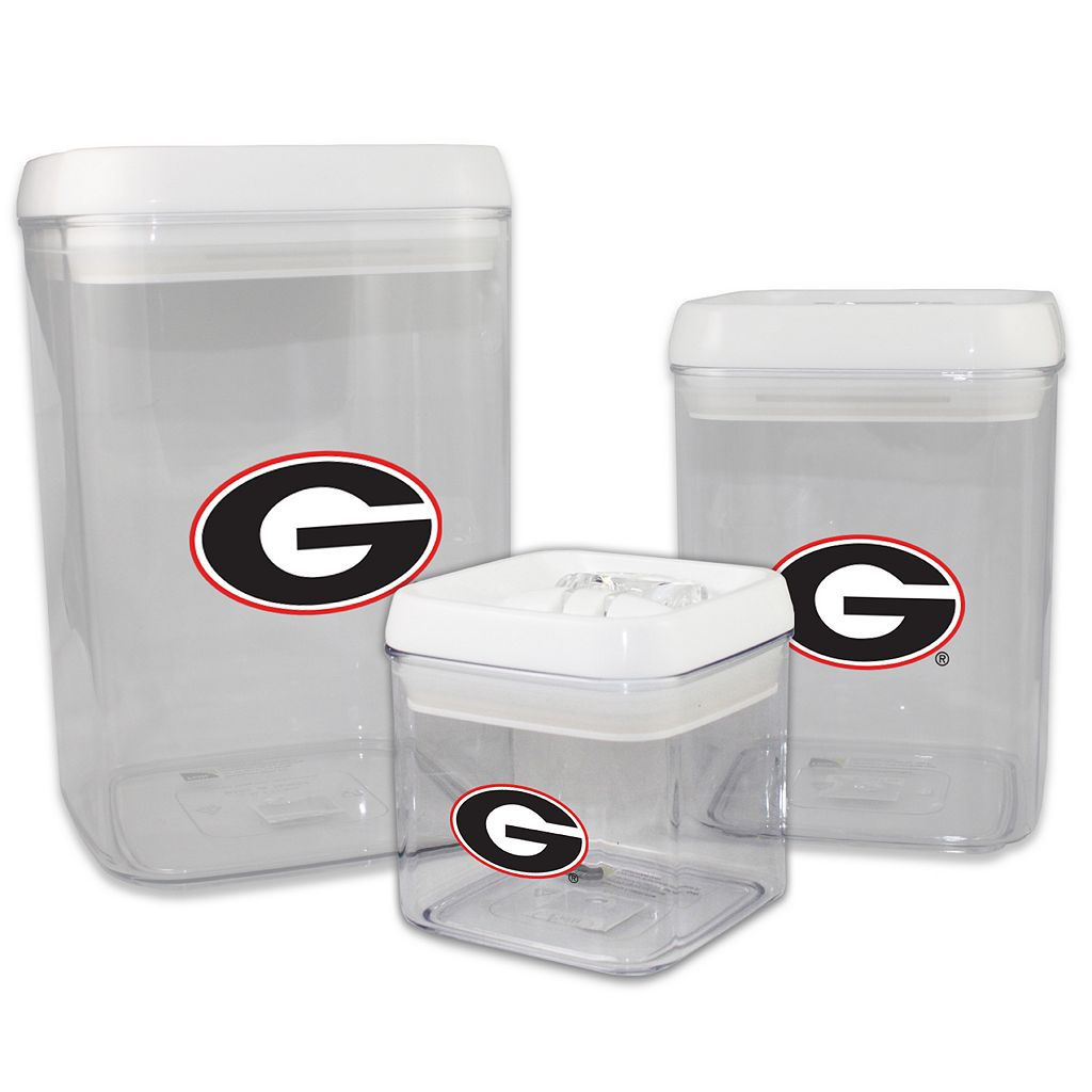 Georgia Bulldogs 3-Piece Storage Container Set