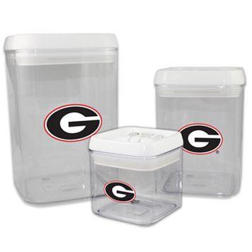 Georgia Bulldogs 3-Piece Storage Container Set