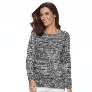 Women's Caribbean Joe Boucle Scoopneck Raglan Sweater