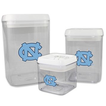 North Carolina Tar Heels 3-Piece Storage Container Set