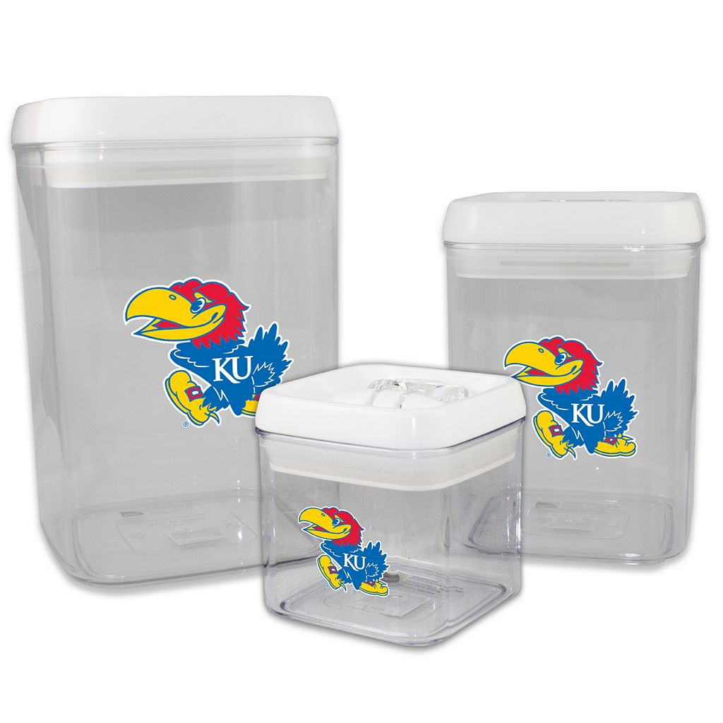 Kansas Jayhawks 3-Piece Storage Container Set