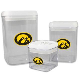 Iowa Hawkeyes 3-Piece Storage Container Set
