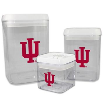 Indiana Hoosiers 3-Piece Storage Container Set