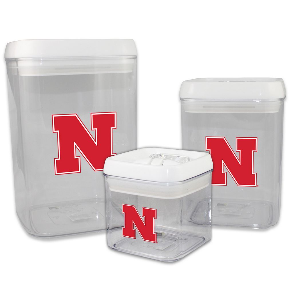 Nebraska Cornhuskers 3-Piece Storage Container Set
