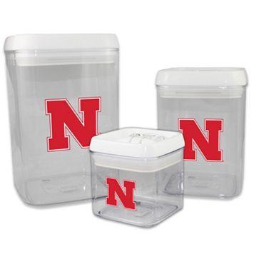 Nebraska Cornhuskers 3-Piece Storage Container Set