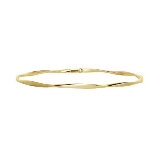 14k Gold Twist Bangle Bracelet