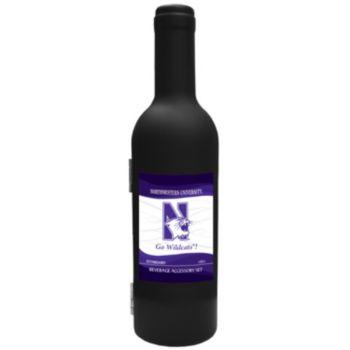 Northwestern Wildcats 3-Piece Wine Bottle Accessory Kit