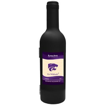 Kansas State Wildcats 3-Piece Wine Bottle Accessory Kit