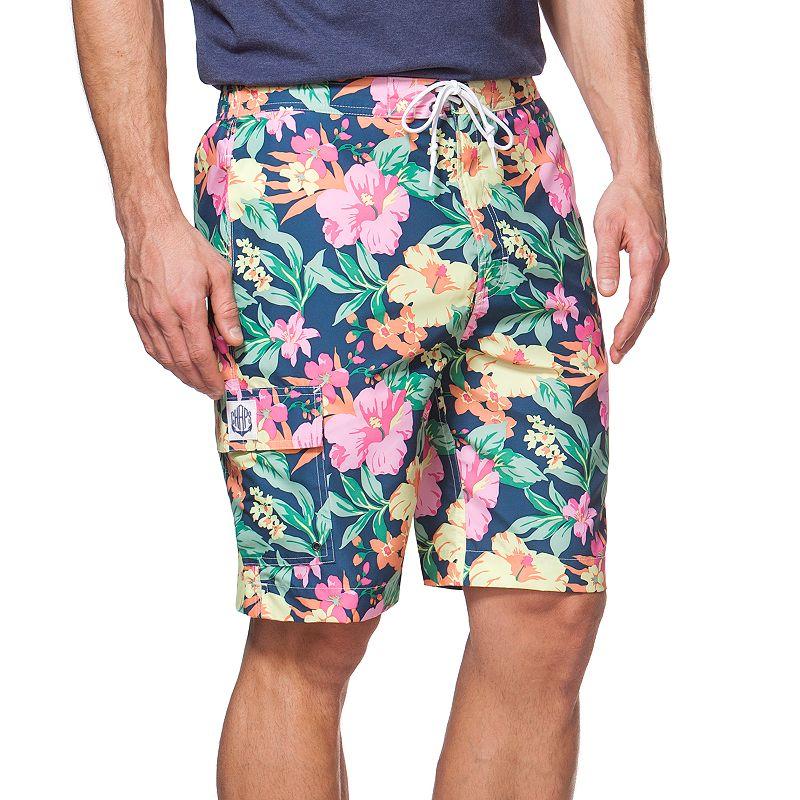 Big & Tall Chaps Floral Board Shorts