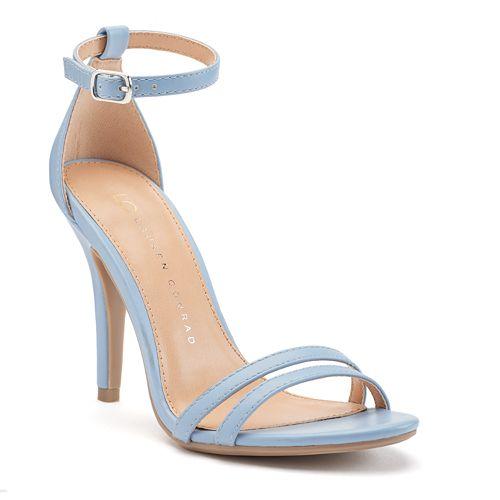 LC Lauren Conrad Women's Ankle Strap High Heels