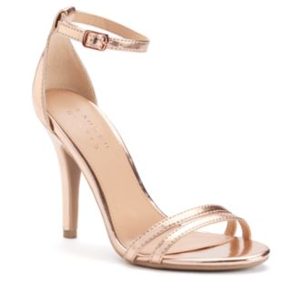LC Lauren Conrad Women's Ankle Strap High Heels