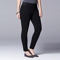 Plus Size Simply Vera Vera Wang Scuba Skinny Pull-On Pants