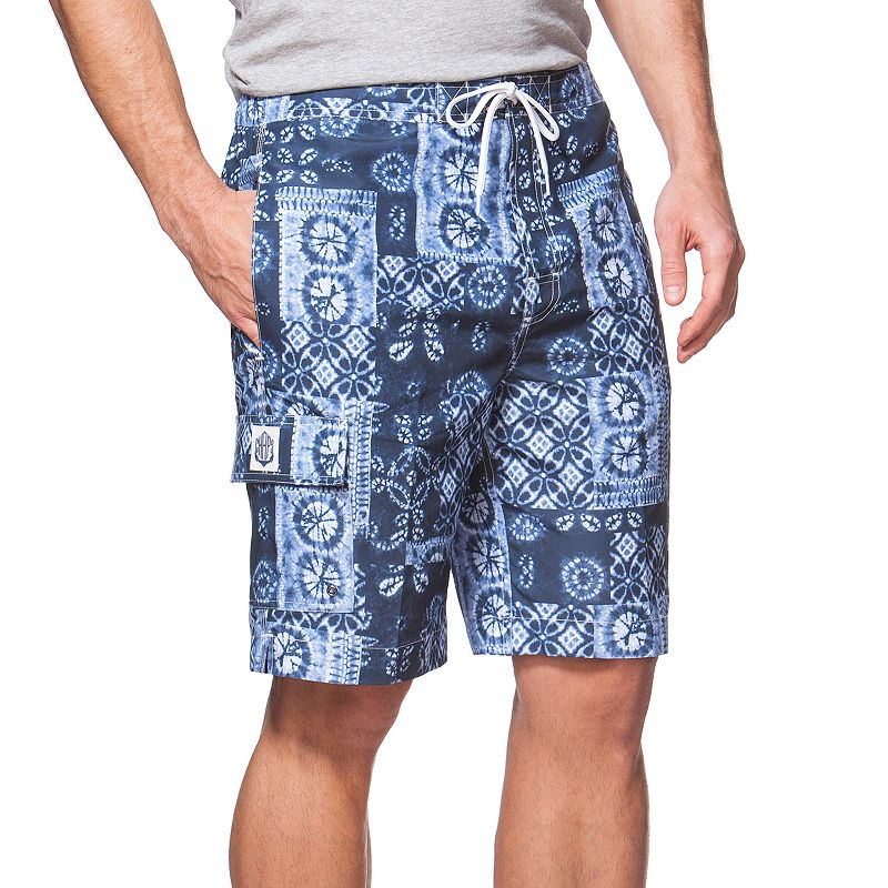 Big & Tall Chaps Classic-Fit Bandana Board Shorts