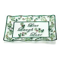 Pfaltzgraff Winterberry ''Live Laugh Love'' Glass Platter