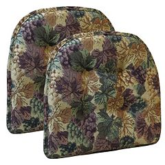 The Gripper 2 pc Tufted Chair Pad Set