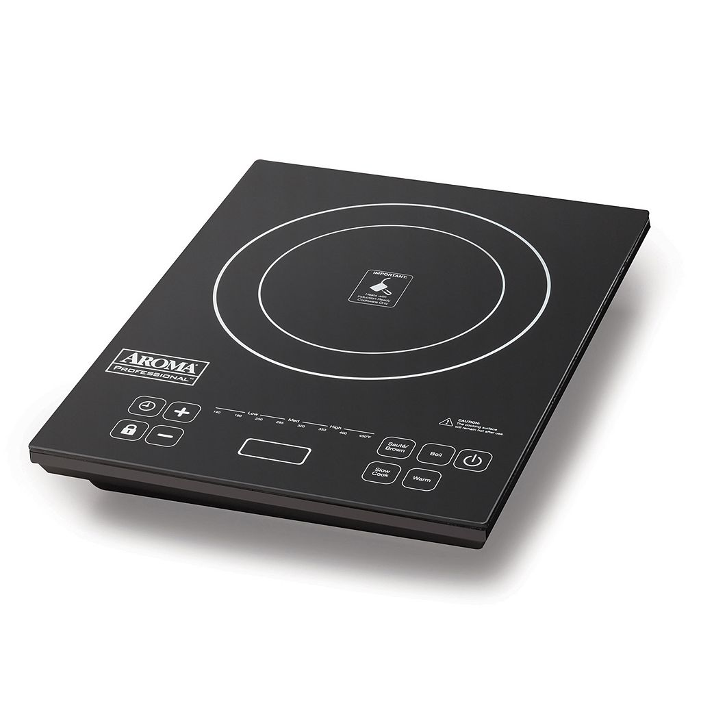 Aroma 2-pc. Portable Induction Cooktop & Frypan Set