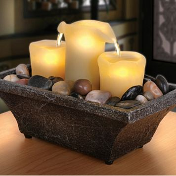 Apothecary 3-Candle LED Fountain