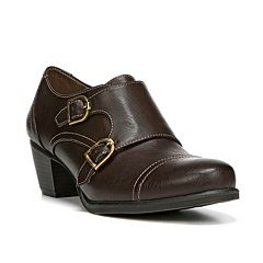 NaturalSoul by naturalizer Keefer Women's Double Buckle Monk Heeled Shoes