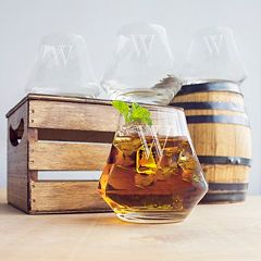 Cathy's Concepts 4-pc. Monogram Whiskey Glass Set