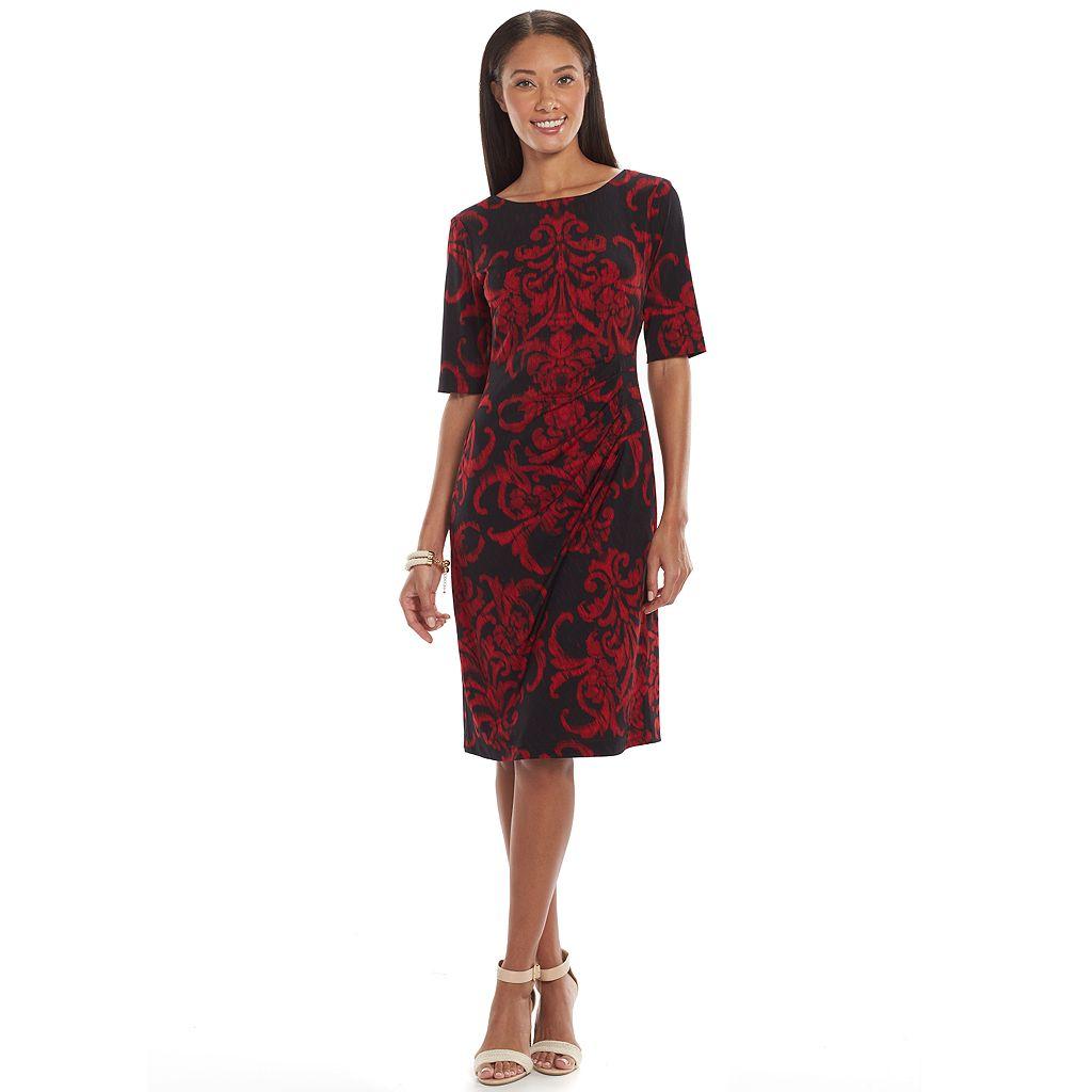 Connected Apparel Pintuck Sheath Dress - Women's