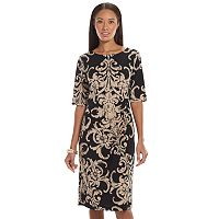 Connected Apparel Pintuck Sheath Dress - Women's