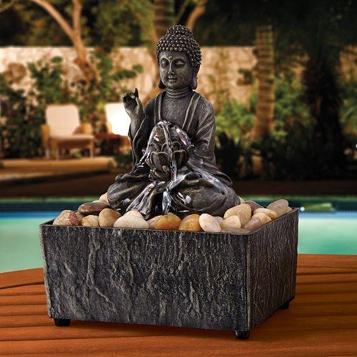 Fountains Zen Buddha Fountain Outdoor Décor