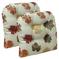 The Gripper 2 pc Fall Leaves Universal Chair Pad Set