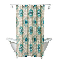 Zenna Home Number 9 Floral Fabric Shower Curtain