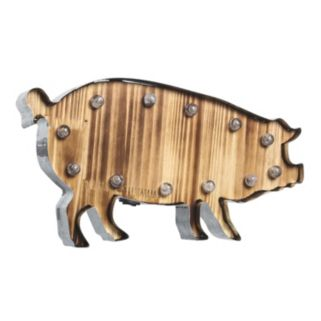 Apothecary Pig LED Marquee Wall Art