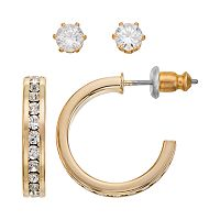 City By City Stud & Hoop Earring Set