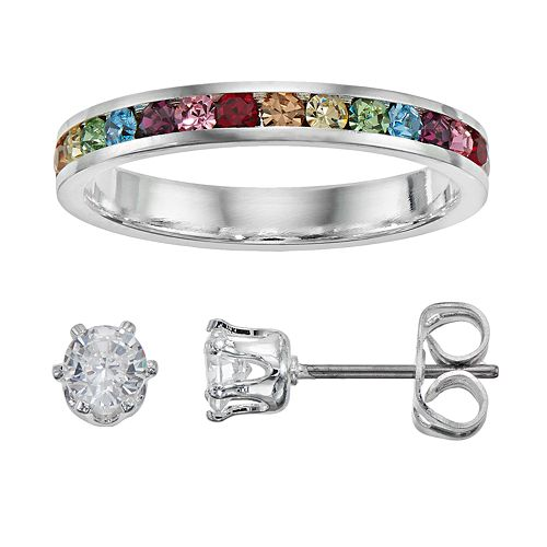 City By City Ring & Stud Earring Set