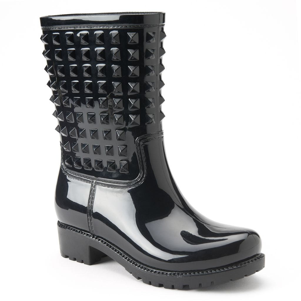 Bootsi Tootsi Studly Moto Juniors Water Resistant Rain Boots