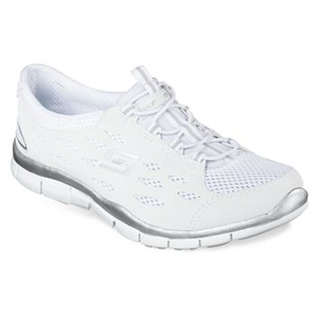 Skechers Sport Women's Gratis Bungee Fashion Sneaker (White)