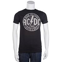 Men's AC/DC High Voltage Stamp Band Tee