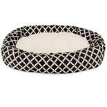 Majestic Pet Bamboo Design Sherpa Indoor Outdoor Bagel Dog Bed