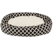 Majestic Pet Bamboo Sherpa Indoor Outdoor Bagel Dog Bed