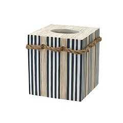 Zenna Home Beach Cottage Tissue Box Cover