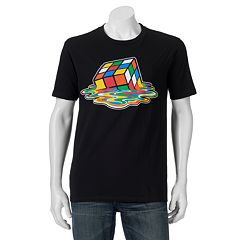 Men's Melted Rubik's Cube Graphic Tee