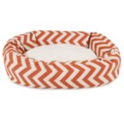 Majestic Pet Chevron Sherpa Indoor Outdoor Bagel Dog Bed
