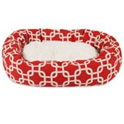 Majestic Pet Links Sherpa Indoor Outdoor Bagel Bed