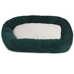 Majestic Pet Villa Sherpa Bagel Dog Bed