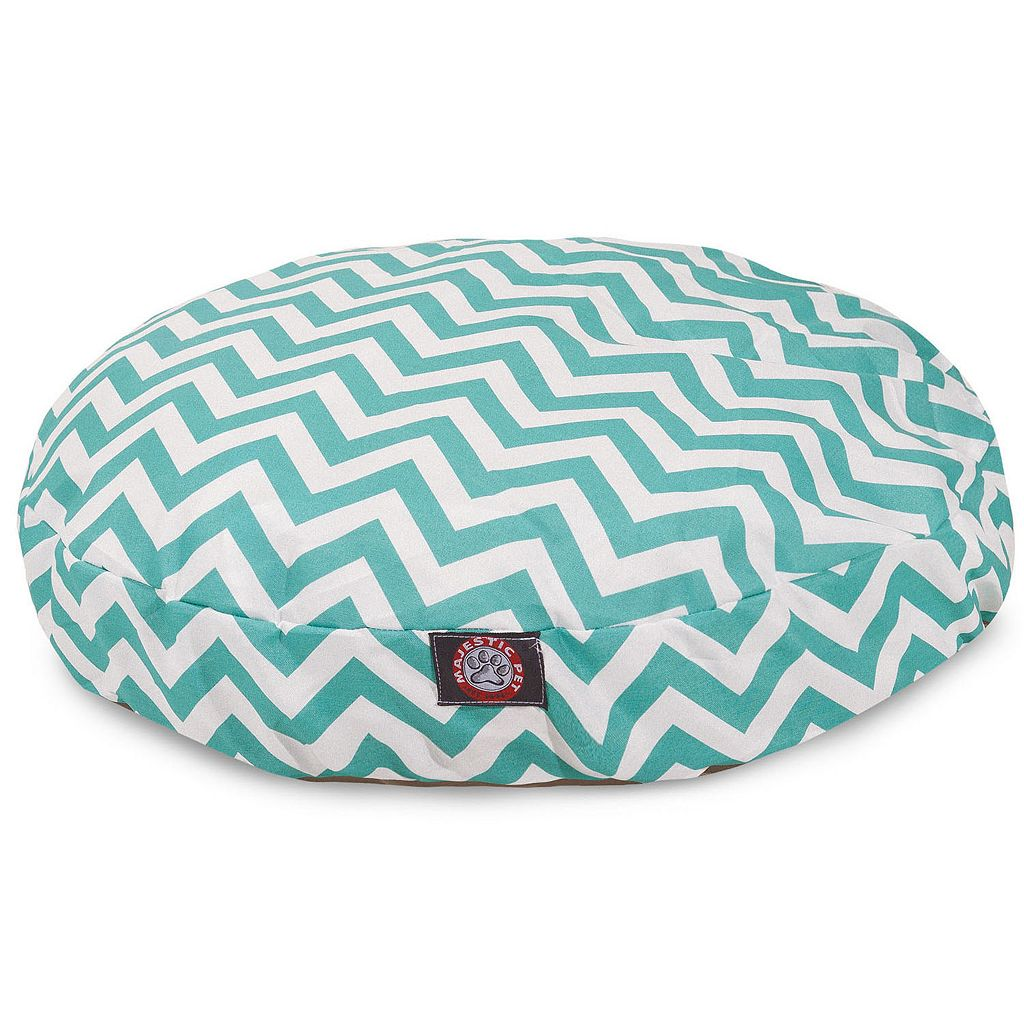 Majestic Pet Chevron Indoor Outdoor Round Dog Bed