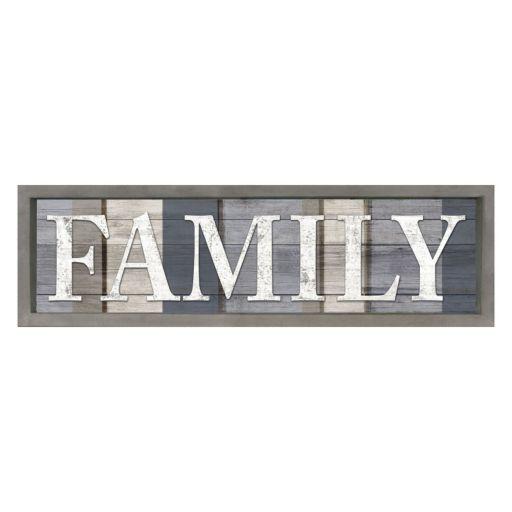 ''Family'' Plank Framed Wall Art