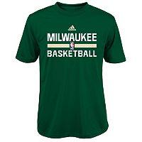Boys 4-7 adidas Milwaukee Bucks Practice climalite Tee