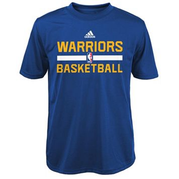 Boys 4-7 adidas Golden State Warriors Practice climalite Tee