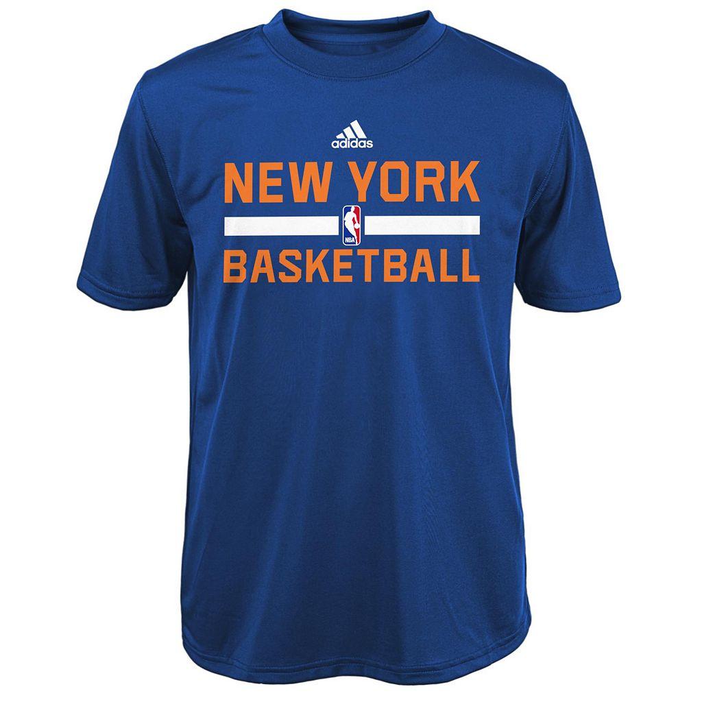 Boys 4-7 adidas New York Knicks Practice climalite Tee