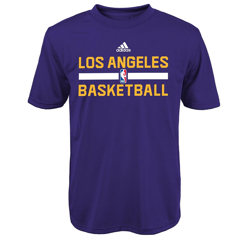 Boys 4-7 adidas Los Angeles Lakers Practice climalite Tee