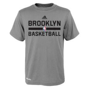 Boys 4-7 adidas Brooklyn Nets Heathered Practice climalite Tee