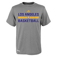 Boys 4-7 adidas Los Angeles Lakers Heathered Practice climalite Tee